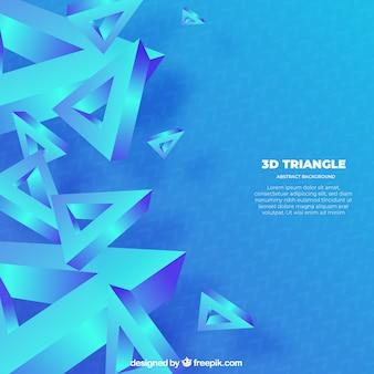 Абстрактный фон с 3d-треугольниками