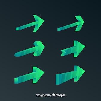 3dスタイルによる現代の矢のコレクション