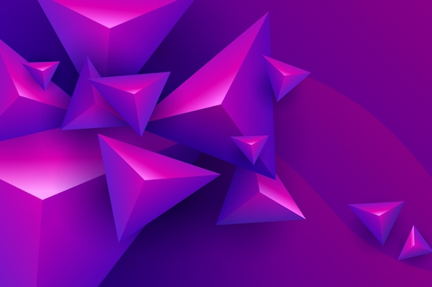鮮やかな色の3d三角形