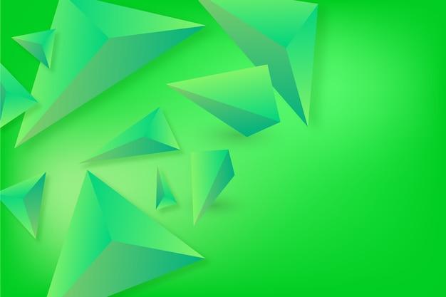 3d обои треугольник с яркими цветами