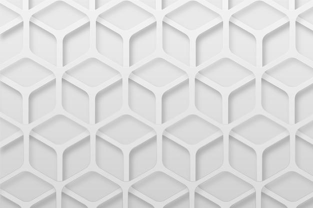 Белый абстрактный фон в стиле 3d бумаги
