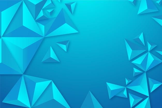 Красочный фон с 3d треугольниками
