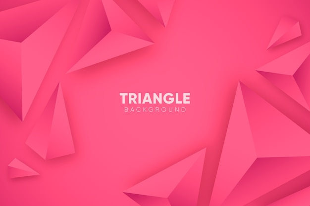 Розовый 3d фон с треугольниками