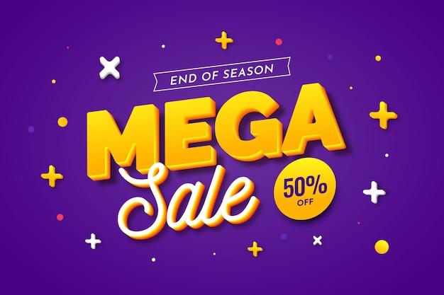 Красочный фон 3d продаж с математическими уравнениями