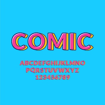 Коллекция алфавита от а до я в 3d комиксов