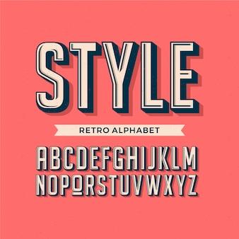3d дизайн ретро алфавит