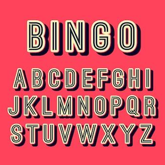 Коллекция алфавит в 3d ретро-дизайн