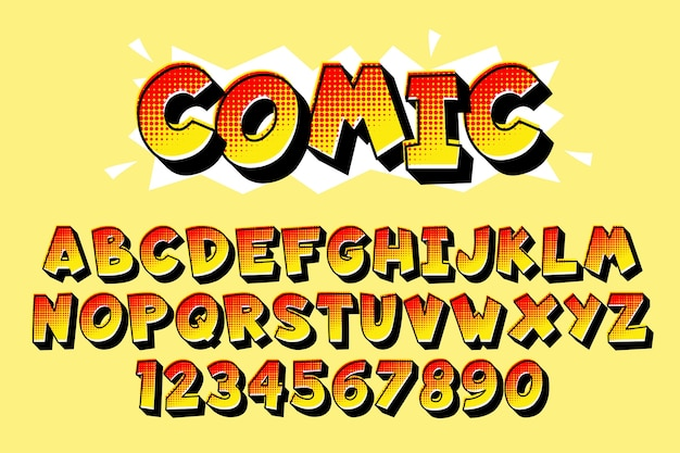 3d комический алфавит