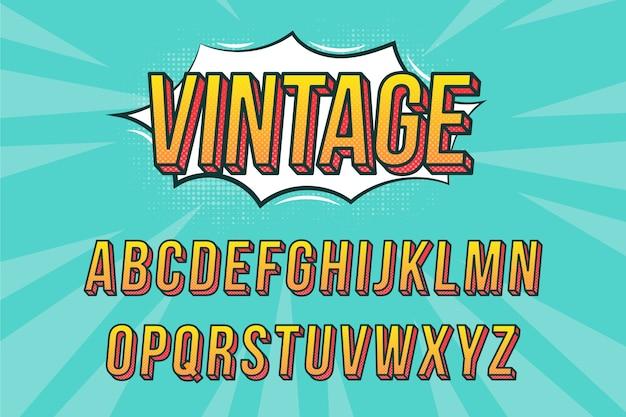 3d дизайн комического алфавита