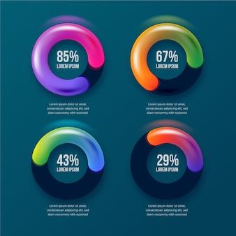 Красочная 3d глянцевая инфографика