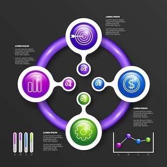 3d коллекция глянцевый инфографики