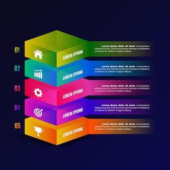 3d блок слоев инфографики