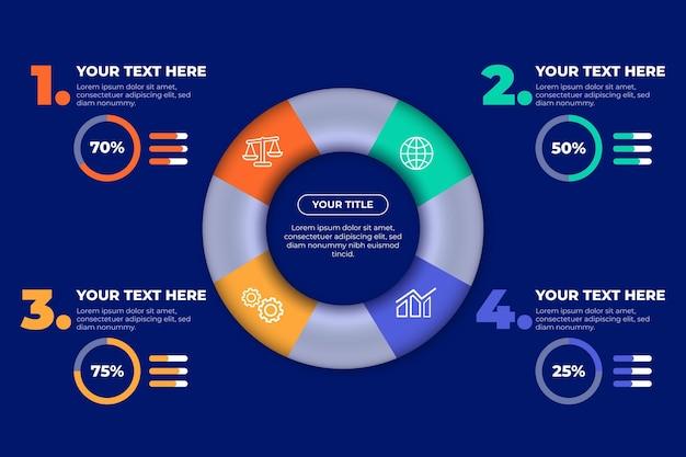 3d кольцо инфографики концепция