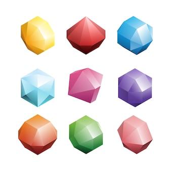 3d効果の幾何学的形状