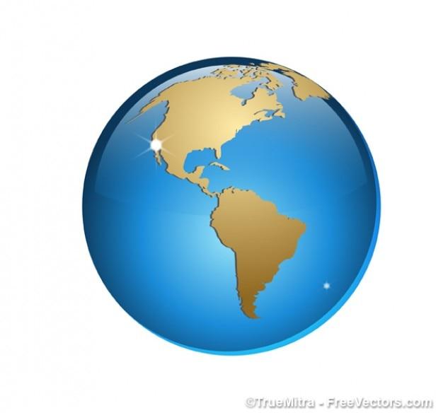 美しい3dクリスタル地球