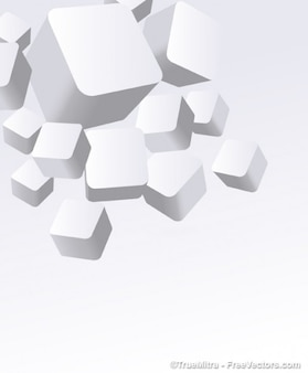 3dの白い箱ベクトル