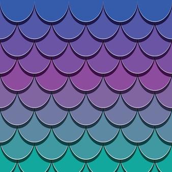 Хвост русалки. бумага вырезать 3d рыбы кожи фон.