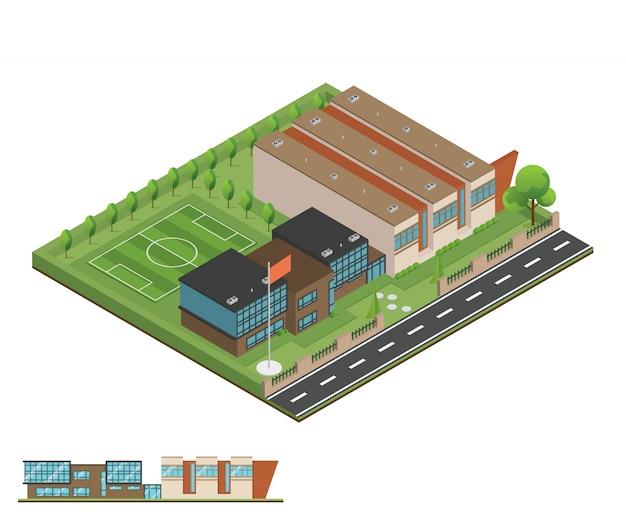 Изометрические и 3d современного офиса