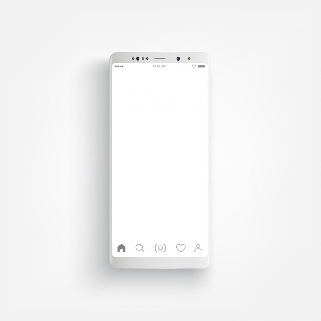 Современный реалистичный белый смартфон. смартфон с боковой стиль, 3d векторные иллюстрации сотового телефона.