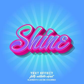Современный 3d-эффект шрифта с ярким цветом