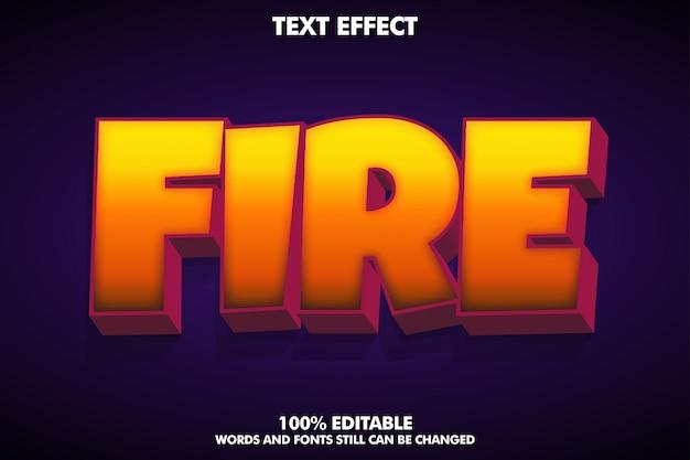 «огненный» 3d текстовый эффект