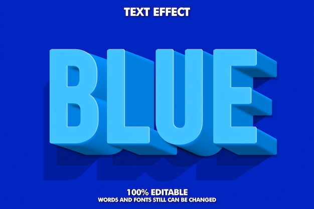 3d青いテキスト効果