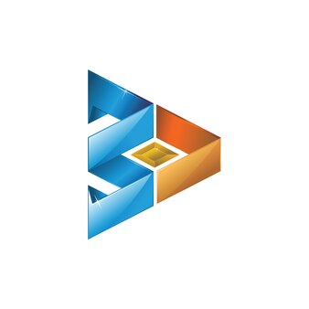 3d抽象的なロゴ
