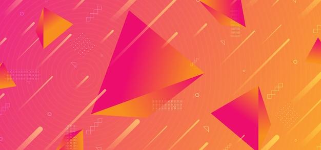 Фон абстрактный модный 3d пирамида градиентных цветов