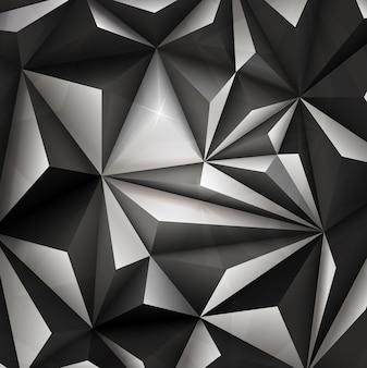 3d抽象的な幾何学的三角形の背景