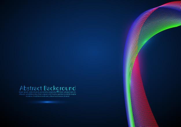 3d частицы сетки массива волновой звук течет.