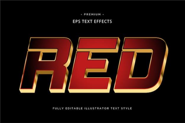 Красный 3d текстовый эффект