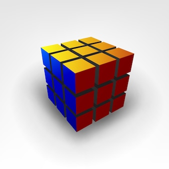 Рубиновый куб 3d-иллюстрации
