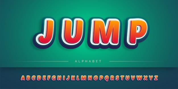 階層化された3dアルファベットセット