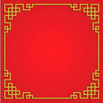 3d中国のパターンフレームボーダーアート中国スタイル