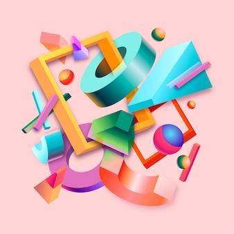 Красочный 3d дизайн фона