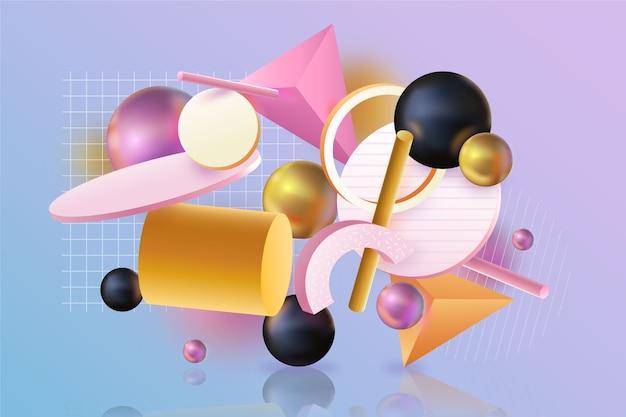 Красочный абстрактный фон 3d