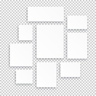 空白の白い3dペーパーキャンバス