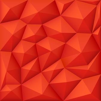 赤の3dポリゴンベクトルの背景、現代の折り紙のテクスチャ