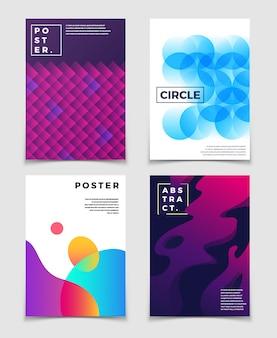 Современные абстрактные фоны с 3d жидкими живыми цветными формами.