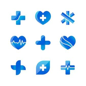 Набор медицинских значков 3d-дизайна