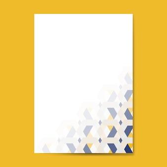 Разноцветный 3d гексагональной узор фона