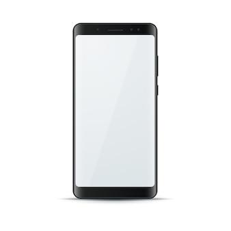 現実的な3dスマートフォン、デジタルガジェットのアイコン。