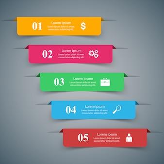 3dインフォグラフィックデザインテンプレートとマーケティングアイコン
