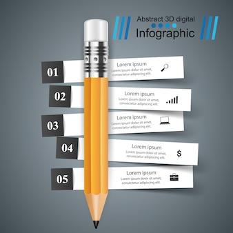 3d инфографики дизайн шаблона