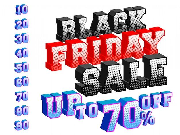 Черная пятница продажа баннера 3d дизайн