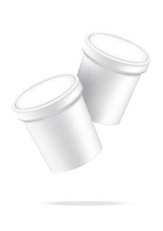 3d макет реалистичная чашка мороженого