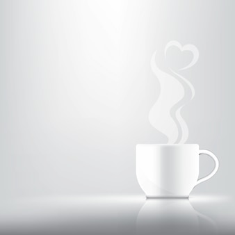 3dリアルなコーヒーまたは紅茶