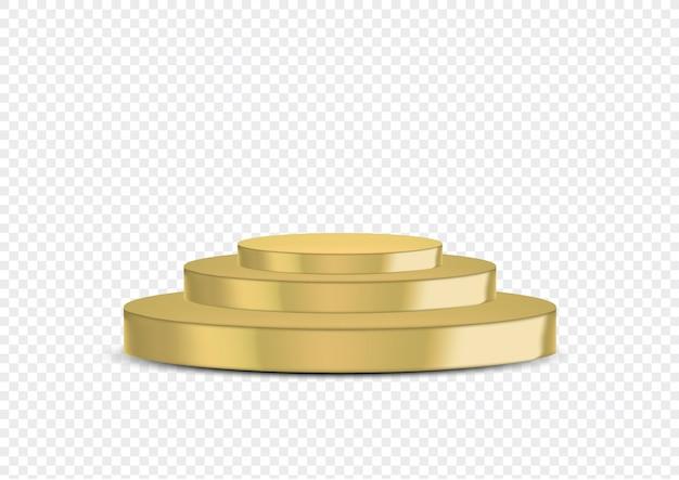 3d реалистичная золотая премия этап или подиум для выставки событий