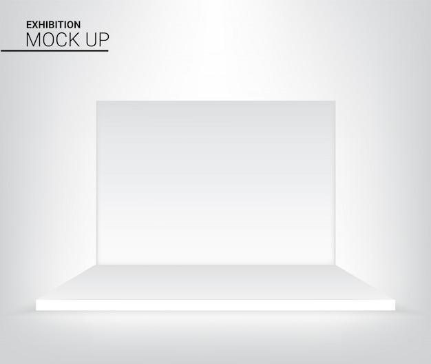 Подиум этапа 3d графический реалистический для иллюстрации предпосылки рекламы, концерта или представления. концепция дизайна мероприятий и выставок