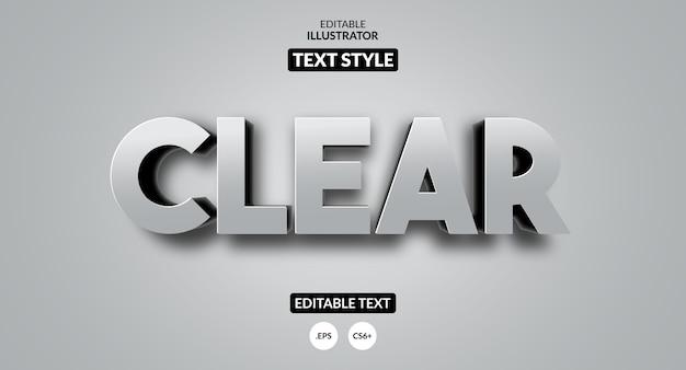 編集可能なテキスト効果-3dスタイルをクリア